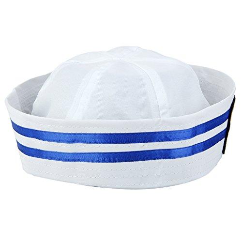 Sharplace Kostüm Zubehör, Motiv Matrosenuniform, Navy sailorn, Marine hut für Damen Herren - Farbe 2, 58cm (Für Kostüme Marine Damen)