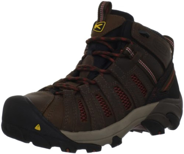 Keen Utility Men's Steel Toe Flint Mid Work Boot  Slate Black/Burnt Henna  10.5 2E US