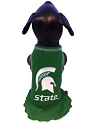 NCAA Michigan State Spartans Cheerleader Dog Dress, XX-Small by All Star Dogs Inc