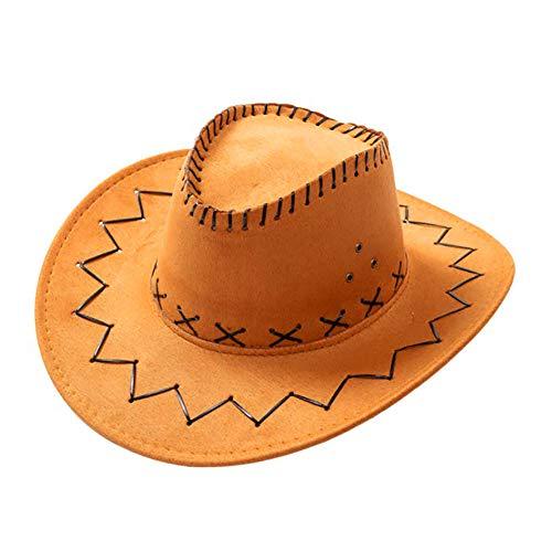 Westernhut Kostümzubehör Western Wildlederoptik Cowboy-Hut (opfbedeckung zu Karneval, Fasching, Halloween, Mottopartys) (Hellbraun) ()