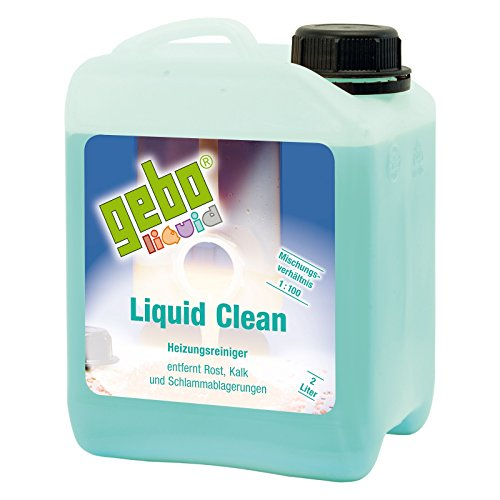 Gebo 75052 Liquid Clean 2l Heizungsreiniger Reinigungsmittel Reiniger Reinigung für Heizungsanlagen Heizung Heizkessel