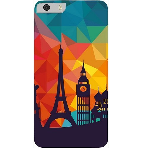 Casotec Colored Paris Design Hard Back Case Cover for Micromax Canvas Knight 2 E471