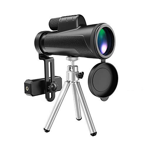 Jackcer Monocularteleskop 12X50 HD High Power mit Stativ Bak4 Prism Wasserdicht, stoßfest Teleskop Vogelbeobachtung, Camping, Wandern, Außen