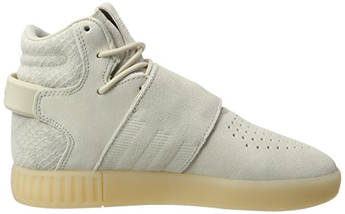 adidas Unisex-Kinder Tubular Invader Strap Hohe Sneaker Braun (Clear Brown/Clear Brown/Chalk White)