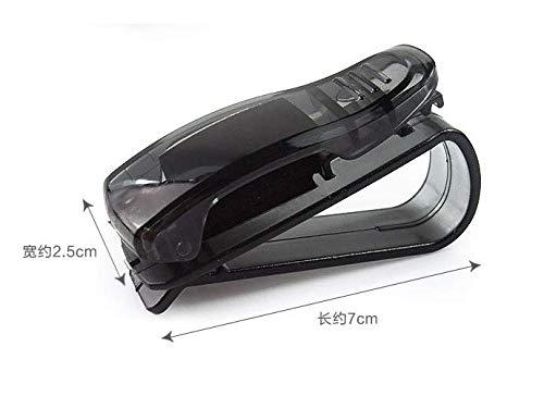 XiZiMi Brillenhalter für Auto Sonnenblende, Sonnenbrillen Brillen mit Kartenkarten Clip - Schwarz (Autos Sonnenblende)