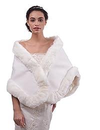 Topwedding Mariage Châle Wrap velours ivoire Wrap nuptiale