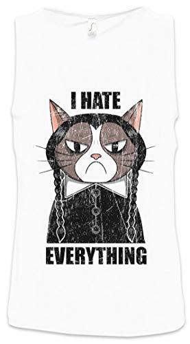 I Hate Everything Cat Herren Männer Tank Top Training Shirt Größen S - 5XL