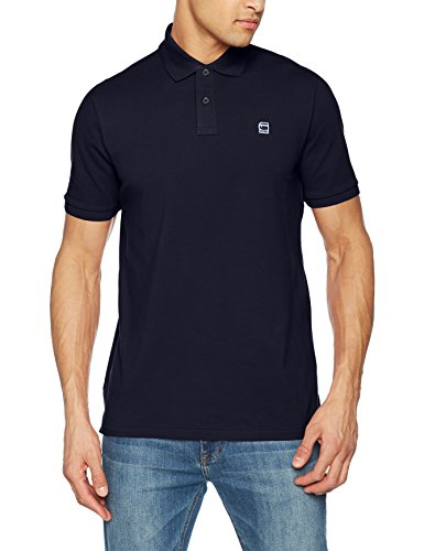 G-STAR RAW Herren Poloshirt Dunda Polo S/S, Regular Fit, D08513-5864 Blau (Sartho Blue 6067)