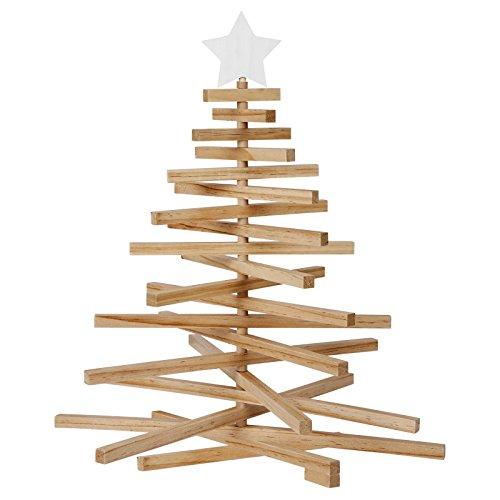 SunnyLIFE Dekorativer festlicher hölzerner Verzierungs-Anzeigen-Baum Baum