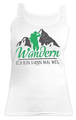 Damen Träger Shirt Wandern Bergsteigen Tank Top Klettern : Wandern ich bin dann mal weg -- lustiges Sprüche Sportshirt Frauen Gr: M