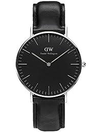 Daniel Wellington Damen-Armbanduhr 36mm Daniel Wellington Classic Black Sheffield Silver dw00100145