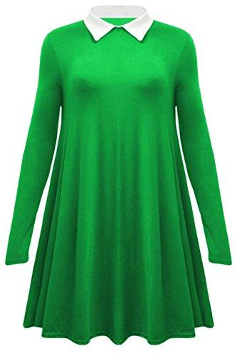 Vanilla Inc - Camicia - Tunica - Maniche lunghe  -  donna Green