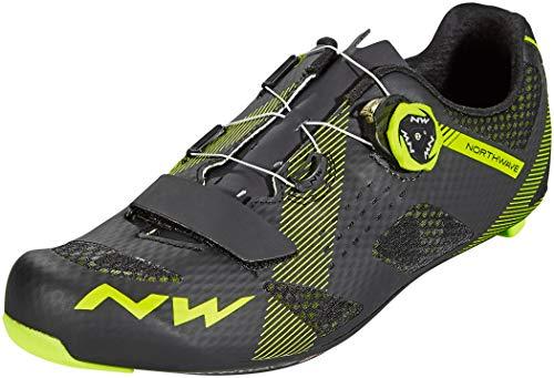 Northwave Storm Carbon Rennrad Fahrrad Schuhe schwarz/gelb 2019: Größe: 45 (Northwave Carbon)