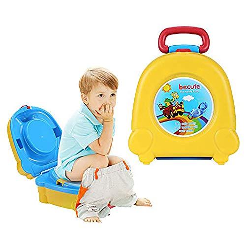 Bambini Vasini Sedile portatile per l'addestramento di servizi igienici per bambini, orinatoio, toilette portatile per la formazione di orinatoi orinatoio per auto (Giallo)