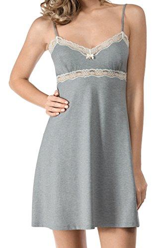 Skiny Damen Nachthemden Soft Harmony Chemise grey stone melange