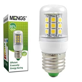 MENGS® E27 5W LED Mais Licht LED Lampe Birne (350LM, Kaltweiß 6000K, AC 220-240V, 360º Abstrahlwinkel, 30x 5050 SMD , Ø32 x 80mm) Energiespar Leuchtmittel