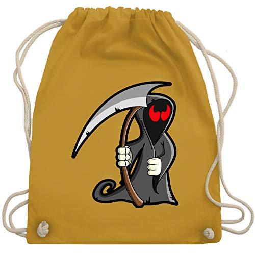 Halloween - Sensenmann - Unisize - Senfgelb - WM110 - Turnbeutel & Gym Bag