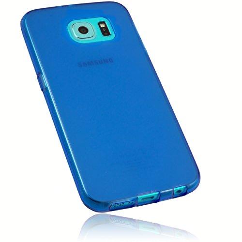 mumbi Schutzhülle Samsung Galaxy S6 / S6 Duos Hülle transparent blau (Slim - 1.2 mm)