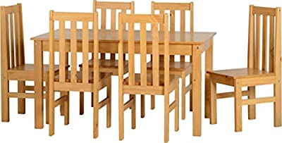 Valufurniture Ludlow 1 Table 6 Chairs Dining Set Oak produced by ValuFurniture - quick delivery from UK.