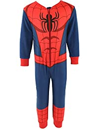 Boys Childrens Official Marvel Avengers Incredible Hulk Iron Man Spiderman Onesie 2-8 Years