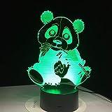 Panda Essen Bambus Nachtlicht Bunte visuelle Kinder Lichter Touch Control Geschenk Nachtlicht Farbe dekorative Lichter Tropfboot