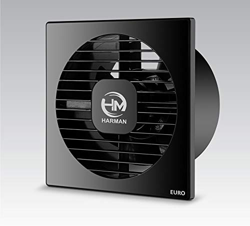 HARMAN INDUSTRIES Euro-6 AXAIL Ventilation/Exhaust Fan (6 Inch/150 mm, Black)