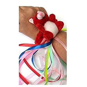 rot Teddybär Armband – sensorische Aktivitäten für Senioren