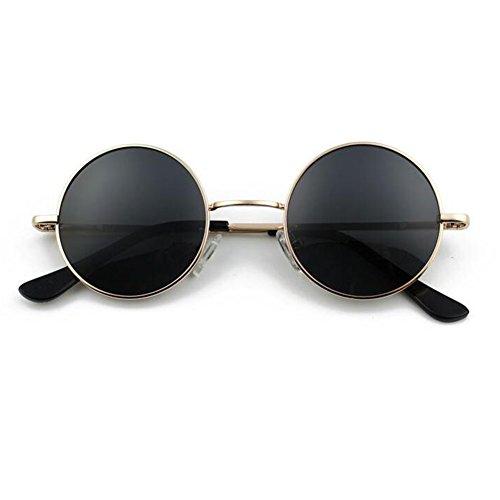 ZX Retro Kreisförmig Sonnenbrille Männer Und Frauen Kleiner Runder Rahmen Prinz Spiegel Fahrt Polarisiertes Licht Kann Mit Kurzsichtigkeit Ausgestattet Werden Brille (Farbe : 5)