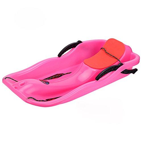 Funkatron Kinder Schnee Schlitten Boot Toboggan Schlitten Glider mit Bremsen Downhill Sprinter Winter Toboggan, 86,4cm L x 40,6cm W, Pink