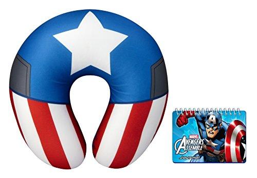 Marvel Captain America Nackenkissen und Tagebuch (Captain Action Kostüm Set)