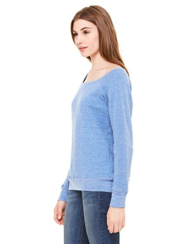 Bella Canvas - Sweat-shirt - Solid - Manches Longues - Opaque - Femme Blue Triblend
