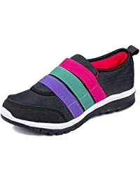 Asian Shoes Butterfly 06 Black Women's Sports Shoes
