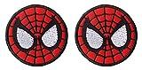 Antrix Lot de 2 patchs tactiques Marvel Comics Avengers Spiderman Deadpool Logo Patch Patch Crochet et boucle pour super-héros Militaire Spiderman - Dia. 9,5 cm