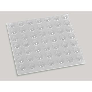 100 Domed Soft Rubber Buffers For Kitchen Doors