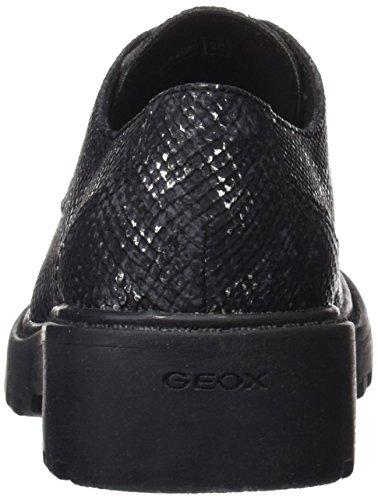 Geox J Casey Girl M, Derby fille Noir (Black)