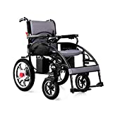 GYH Electric Wheelchair, Disabled Elderly Four-Wheel Care Folding Lightweight Smart Wheelchair, Load 150kg, EABS Brake System (#)