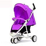 Shisky Sitzbuggys, Kinderwagen,Hoch-Sicht Baby Kinderwagen faltbaren Dreirad 85 * 58,5 * 107 cm