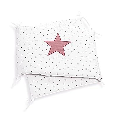 Alondra Rose 627-182 - Protector para cunas de 70x140 con estrellas, color blanco