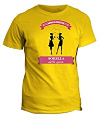 Idea Regalo - Tshirt sorella della sposa - addio al nubilato - in cotone by Fashwork