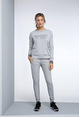 Expresso Renske Damen Sweater mit Text-Print Hellgrau gemischt
