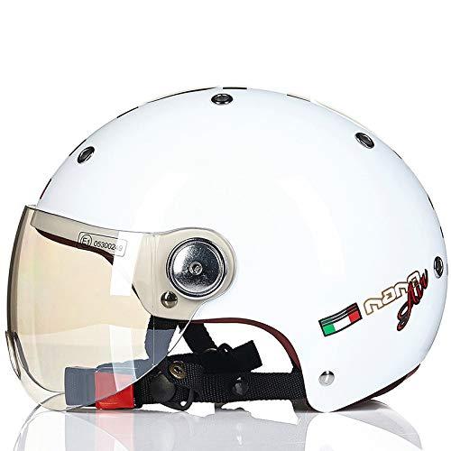 Mdsfe Mezzo casco per uomo e donna per quattro stagioni mezzo casco coperto per casco per auto elettrica, protezione solare estiva leggeracasco x bambini bicicletta