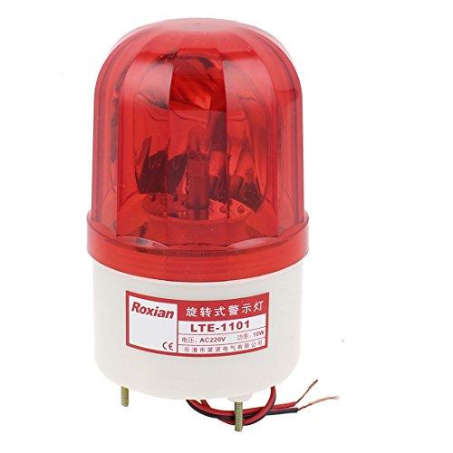 AC 220 V Rot LED drehbar Blitzlicht Industrielle Signal Warnlampe Metall DE