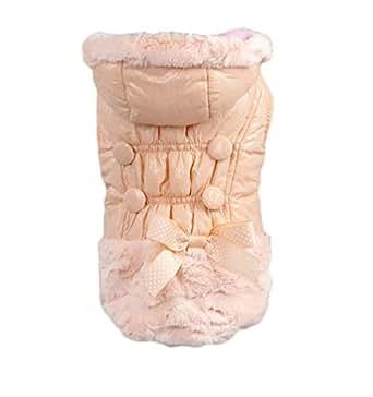 YiJee Cappotto Di Giacca Con Cappuccio Casual Per Cane Invernale Pink XS
