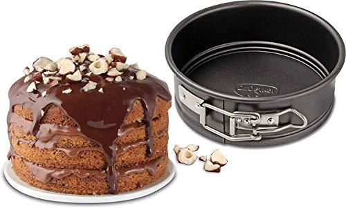 Dr. Oetker Springform Ø 12 cm, kleine Kuchenform mit Flachboden, runde Backform aus Stahl mit Antihaftbeschichtung (Farbe: schwarz), Menge: 1 Stück Und Kuchenform