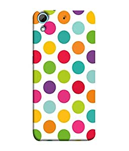 PrintVisa Designer Back Case Cover for HTC Desire 626G :: HTC Desire 626 Dual SIM :: HTC Desire 626S :: HTC Desire 626 USA :: HTC Desire 626G+ :: HTC Desire 626G Plus (dots multicolour pink green red yellow blue)