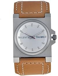 Levi's - Reloj de mujer de cuarzo, correa de piel color marrón