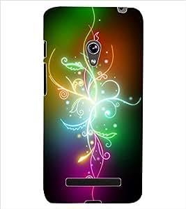 ColourCraft Colourful Flower Design Back Case Cover for ASUS ZENFONE 5