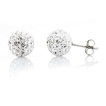 Damen Ohrstecker Ohrringe Silber 925 Mit Swarovski Elements -6mm