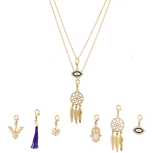 lux-zubehor-austauschbare-halskette-charms-hamsa-dreamcatcher-pave-evil-eye-blumen-eagle-bird-set