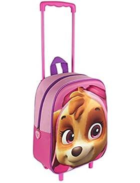 Paw Patrol Rucksack Trolley Trolley 3D Patrulla Canina Skye rosa